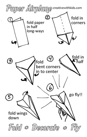 Terrible image intended for paper airplane template printable